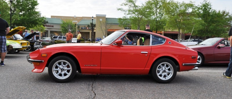 Classic Sports Car Showcase -- Datsun 240Z at Cars & Coffee -- Immaculate in 30 Glowing Orange Photos 13