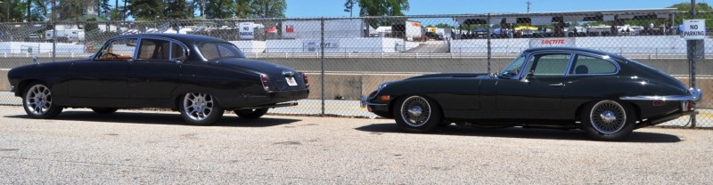 Road Atlanta - Mitty 2014 Pit Lane - ~1965 JAGUAR Mark 10 and E-Type Coupe Side-by-Side 5