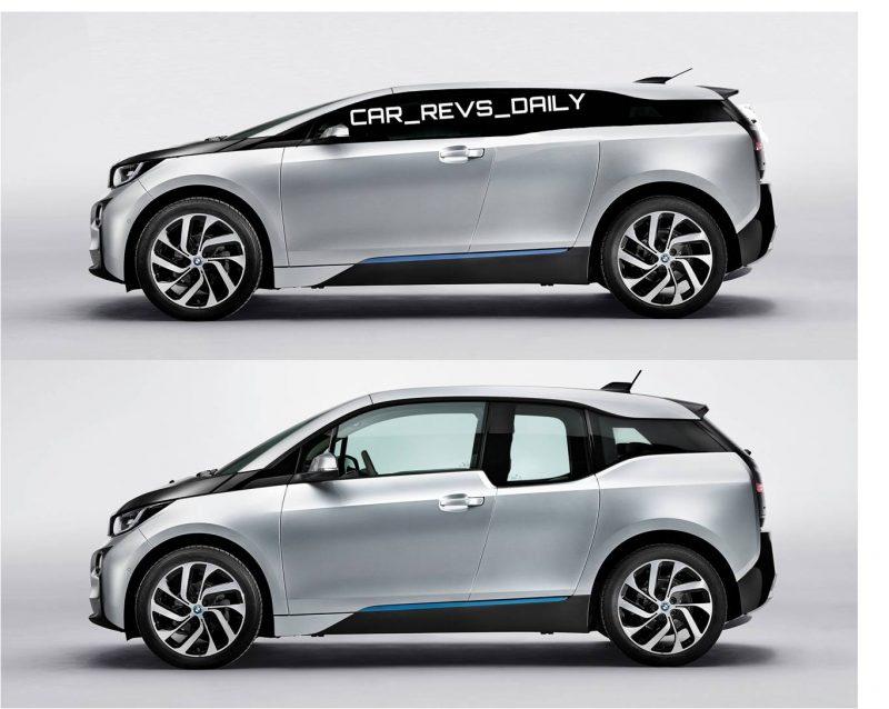 Car-Revs-Daily.com -- 2016 BMW i4 Rendering SIDE vs i3