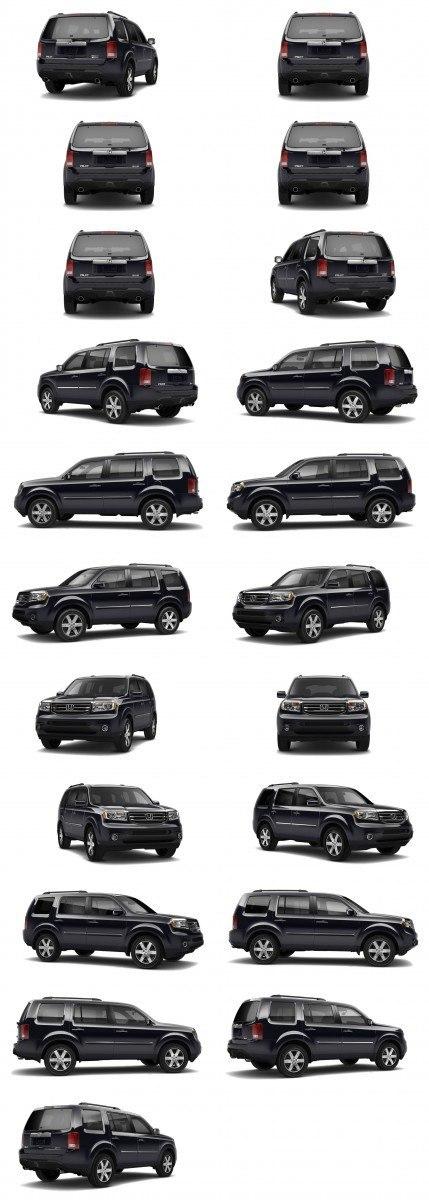 2015 Honda Pilot Colors 39-tile black