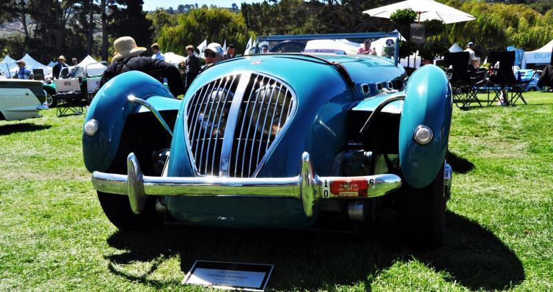 Quail Classics - 1950 Healey Silverstone Roadster Is Race-Optimized Aerolithe 6