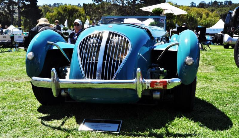 Quail Classics - 1950 Healey Silverstone Roadster Is Race-Optimized Aerolithe 7