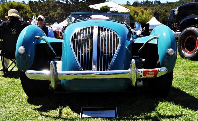 Quail Classics - 1950 Healey Silverstone Roadster Is Race-Optimized Aerolithe 8