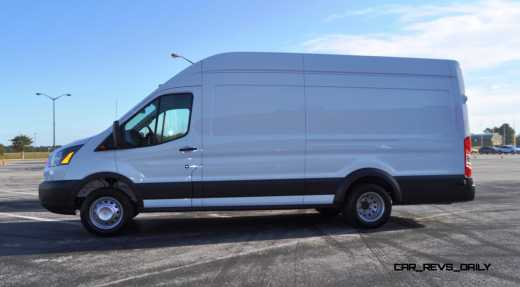 HD Track Drive Review - 2015 Ford Transit PowerStroke Diesel High-Roof, Long-Box Cargo Van 10