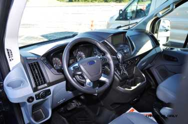 HD Track Drive Review - 2015 Ford Transit PowerStroke Diesel High-Roof, Long-Box Cargo Van 22