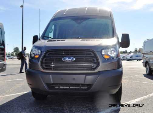 HD Track Drive Review - 2015 Ford Transit PowerStroke Diesel High-Roof, Long-Box Cargo Van 43