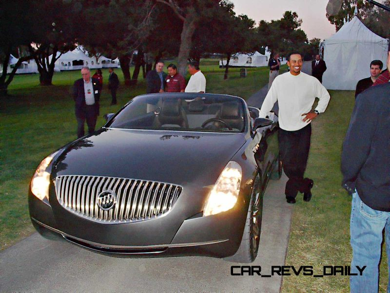 Tiger Woods With The New Buick Velite Concept