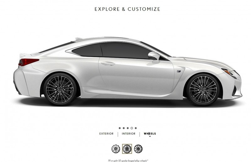 2015 Lexus RC F Colors and Wheels Visualizer 1