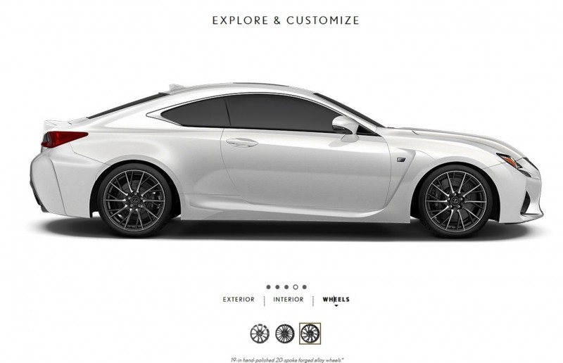 2015 Lexus RC F Colors and Wheels Visualizer 3