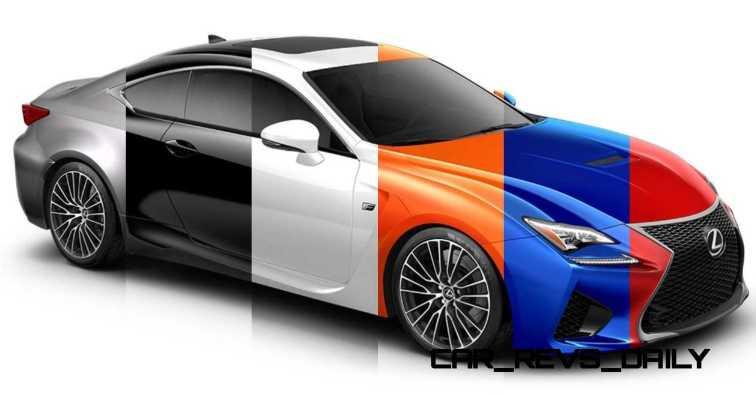 2015 Lexus RC F Colors and Wheels Visualizer 36_001-horz