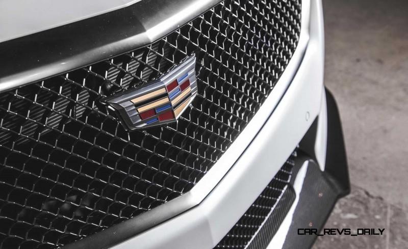 2016 Cadillac CTS-V Crystal White Tricoat 14