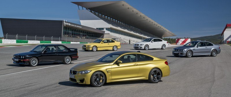 2015 BMW M3 and M4 Meet The Legacy in 52 New Photos With E30 Sport Evolution, E36 M3 Sedan, E46 and E90 13