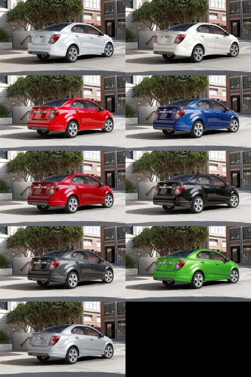 2015 Chevy Sonic RS Sedan COLORS and Buyers Guide Info 32-tile