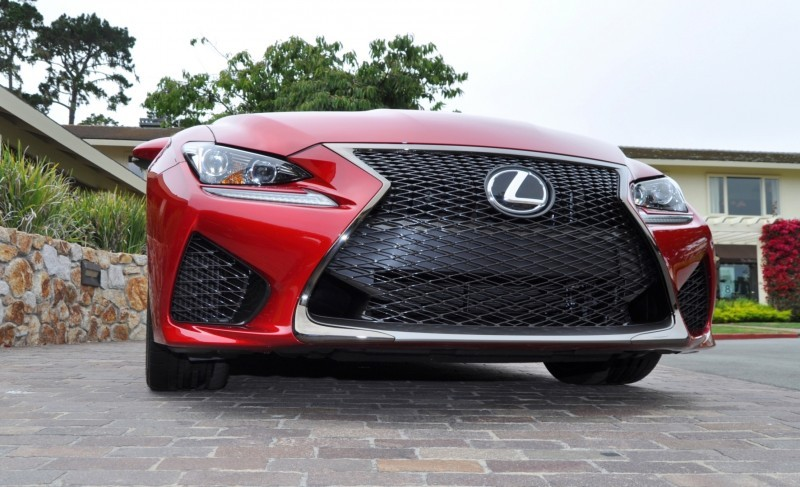 2015 Lexus RC-F in Red at Pebble Beach 129