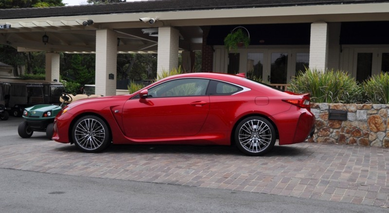 2015 Lexus RC-F in Red at Pebble Beach 22