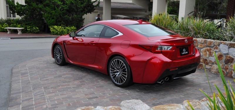 2015 Lexus RC-F in Red at Pebble Beach 29