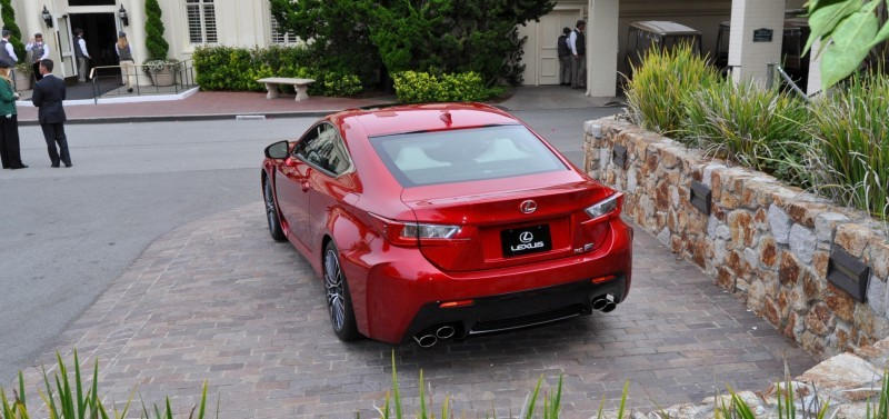 2015 Lexus RC-F in Red at Pebble Beach 35