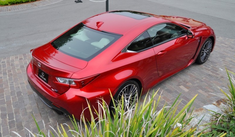2015 Lexus RC-F in Red at Pebble Beach 53