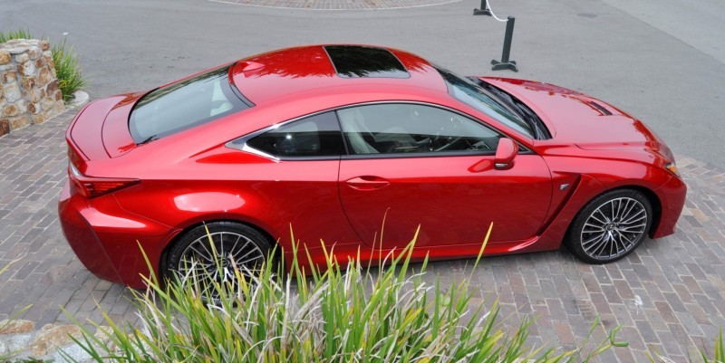 2015 Lexus RC-F in Red at Pebble Beach 58