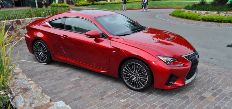 2015 Lexus RC-F in Red at Pebble Beach 61