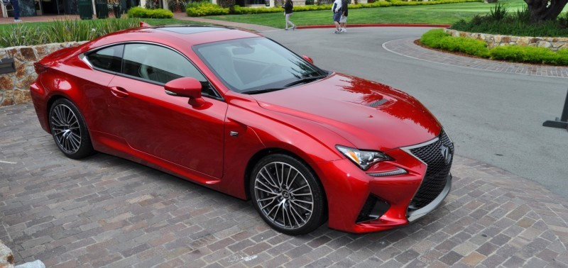 2015 Lexus RC-F in Red at Pebble Beach 62