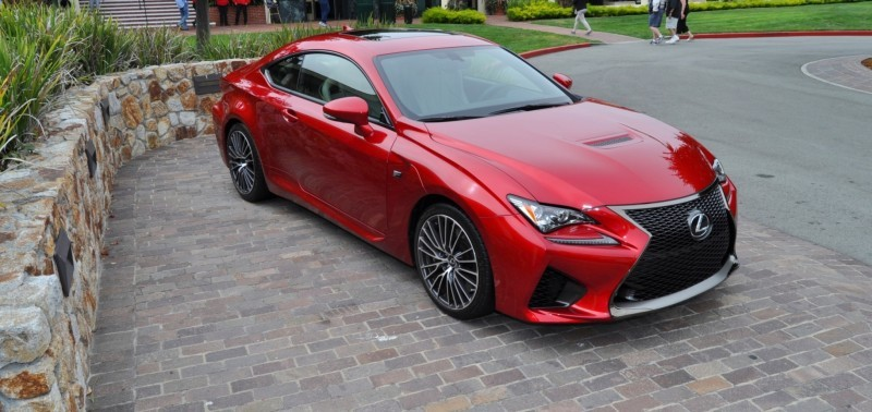 2015 Lexus RC-F in Red at Pebble Beach 65