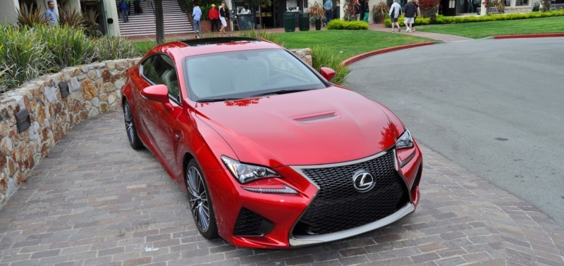 2015 Lexus RC-F in Red at Pebble Beach 69