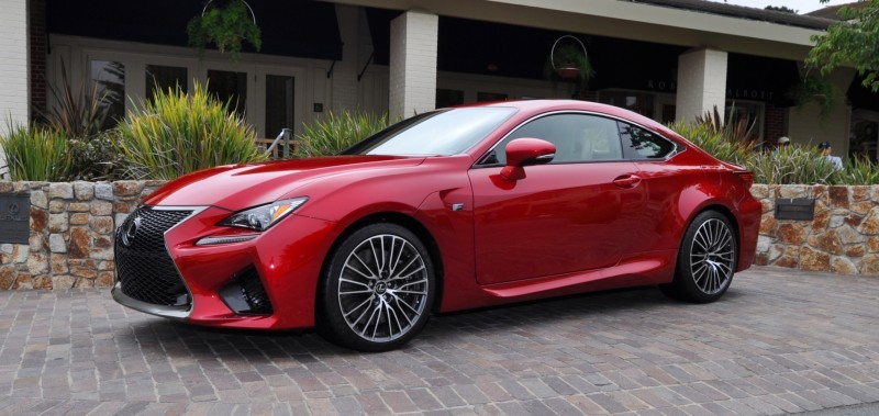 2015 Lexus RC-F in Red at Pebble Beach 9