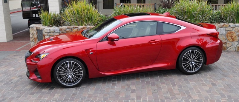 2015 Lexus RC-F in Red at Pebble Beach 95
