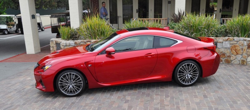 2015 Lexus RC-F in Red at Pebble Beach 97