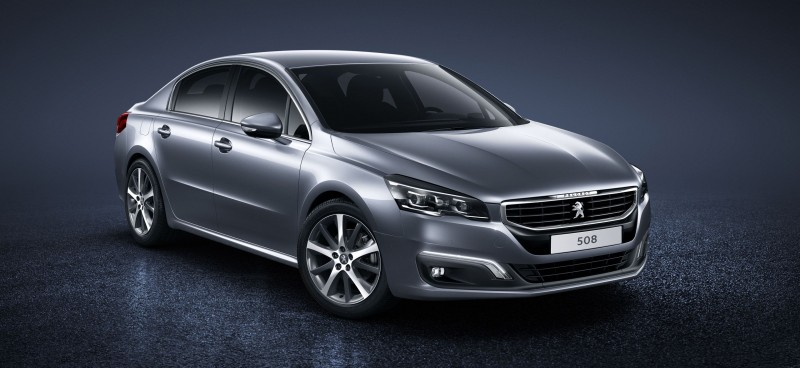 2015 Peugeot 508 Facelifted With New LED DRLs, Box-Design Beams and Tweaked Cabin Tech 2