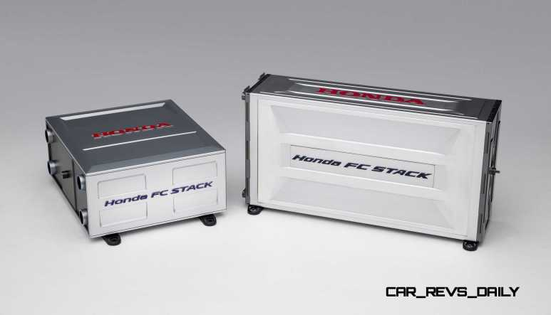 Honda FCV Concept Fuel Cell Stack Compared to FCX Clarity Versio