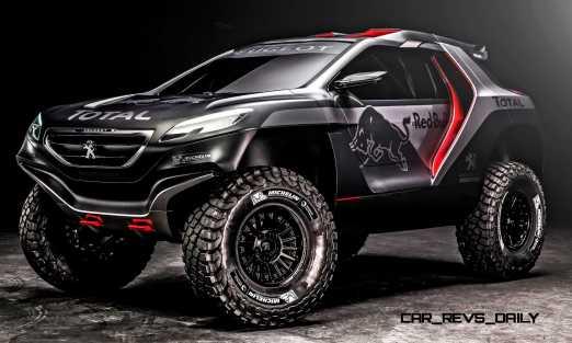 Peugeot 2008 DKR revealed in Nanterre, France on March 28th, 201