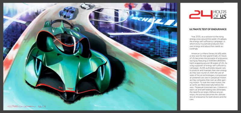 Ege Argüden 2035 Aston Martin AMR-AP LeMans Racer 9