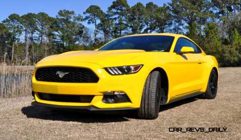 2015 Ford Mustang EcoBoost in Triple Yellow 1