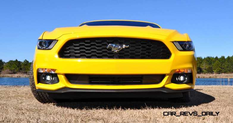 2015 Ford Mustang EcoBoost in Triple Yellow 125