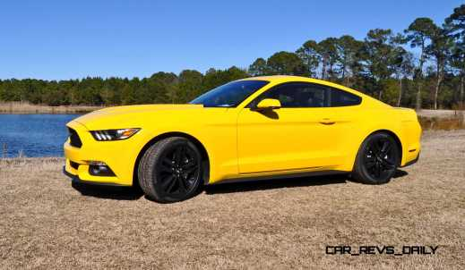 2015 Ford Mustang EcoBoost in Triple Yellow 15