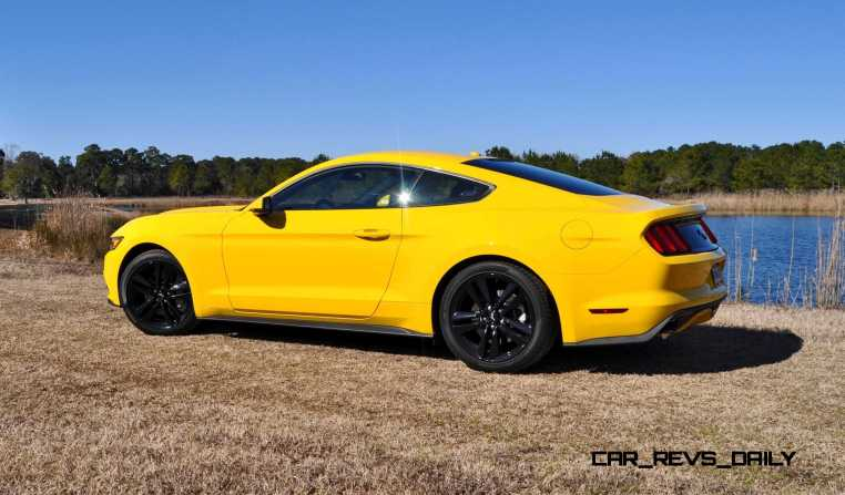 2015 Ford Mustang EcoBoost in Triple Yellow 23