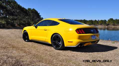 2015 Ford Mustang EcoBoost in Triple Yellow 26