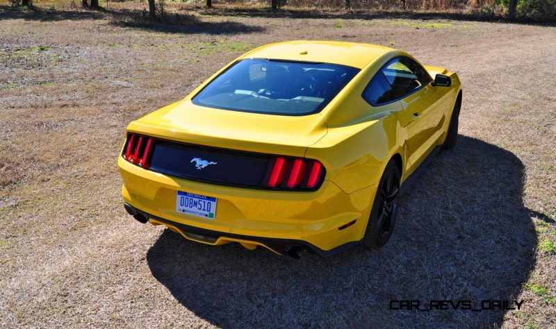 2015 Ford Mustang EcoBoost in Triple Yellow 38