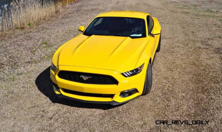 2015 Ford Mustang EcoBoost in Triple Yellow 57