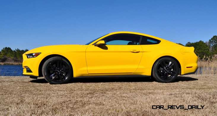 2015 Ford Mustang EcoBoost in Triple Yellow 73