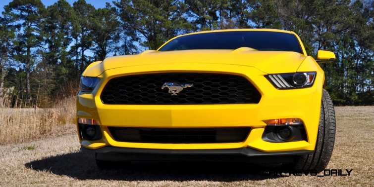2015 Ford Mustang EcoBoost in Triple Yellow 82
