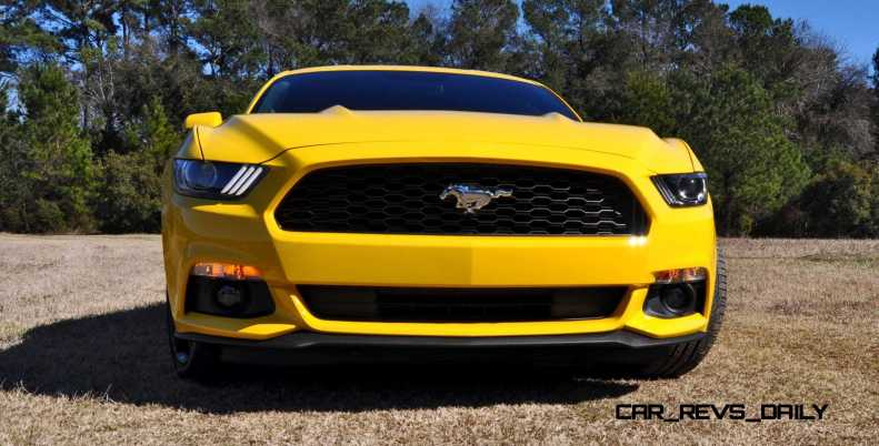 2015 Ford Mustang EcoBoost in Triple Yellow 83