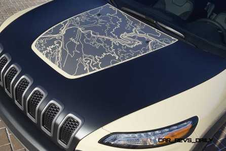 """Jeep® Cherokee Canyon Trail """"Hell's Revenge"""" topographica"""