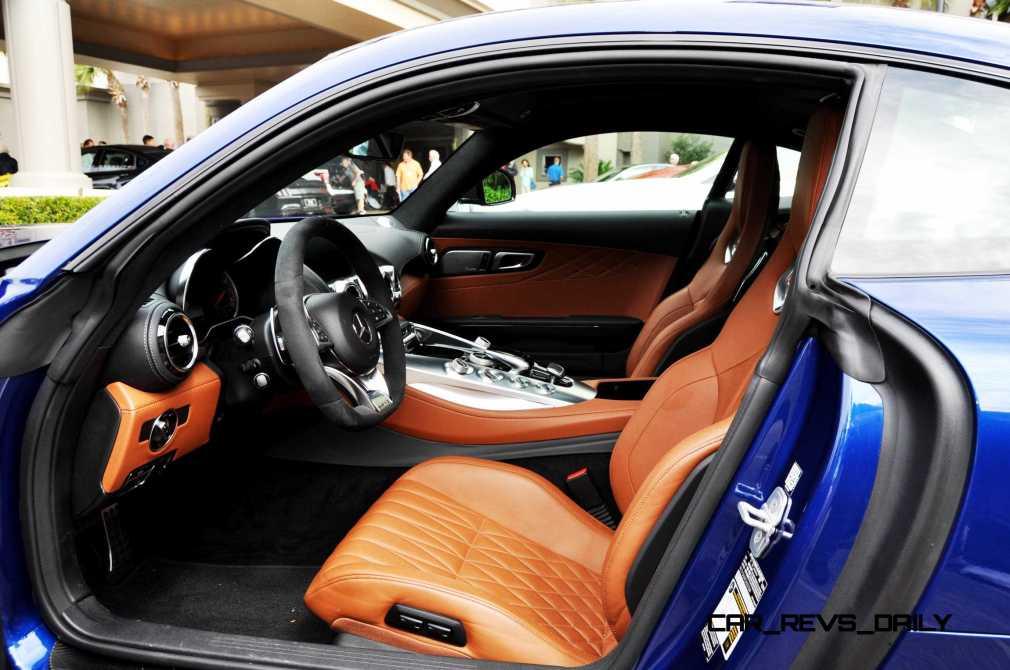 2015 Mercedes-AMG GT-S Red Blue Amelia Island 141