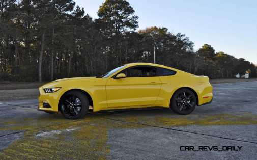 HD Road Test Review - 2015 Ford Mustang EcoBoost in Triple Yellow with Performance Pack 116