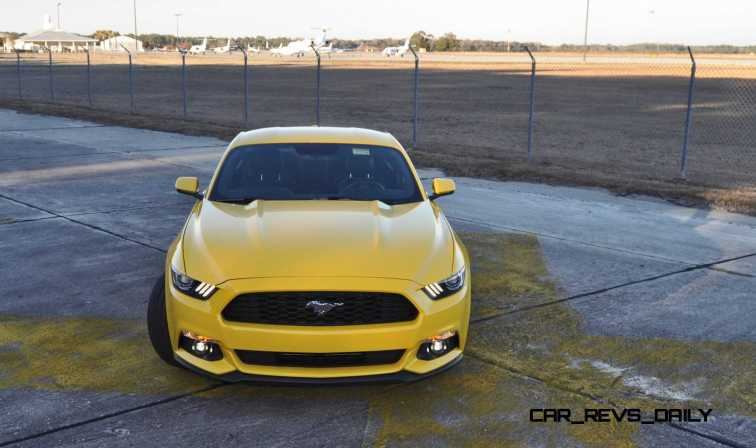 HD Road Test Review - 2015 Ford Mustang EcoBoost in Triple Yellow with Performance Pack 166