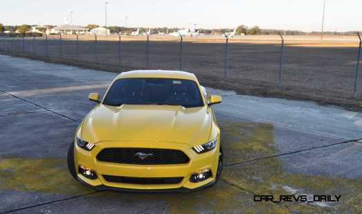 HD Road Test Review - 2015 Ford Mustang EcoBoost in Triple Yellow with Performance Pack 167