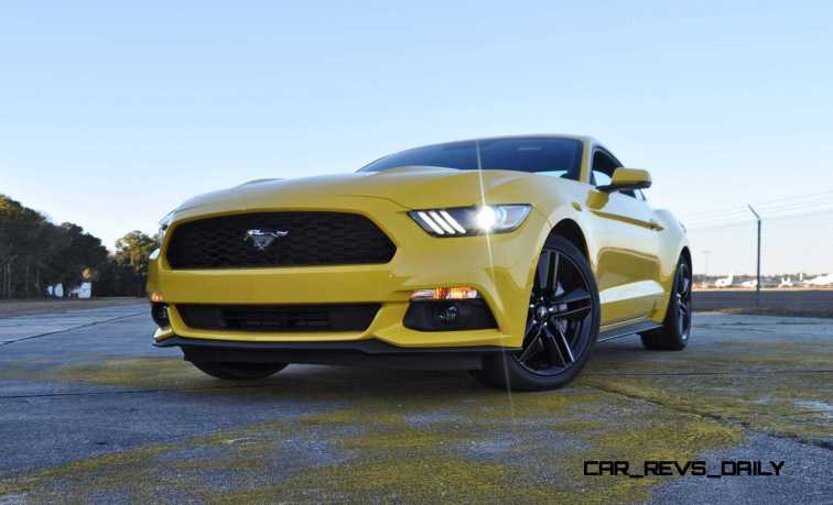 HD Road Test Review - 2015 Ford Mustang EcoBoost in Triple Yellow with Performance Pack 179